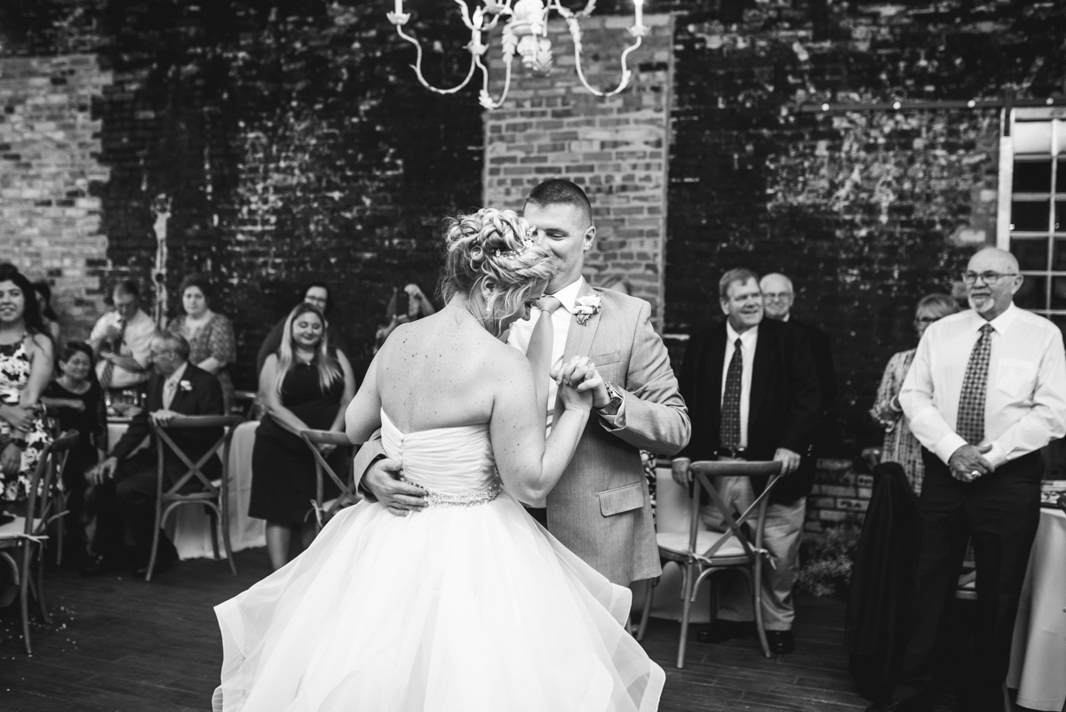Elegant Summer Wedding in Smithfield, Virginia | Bride and groom first dance