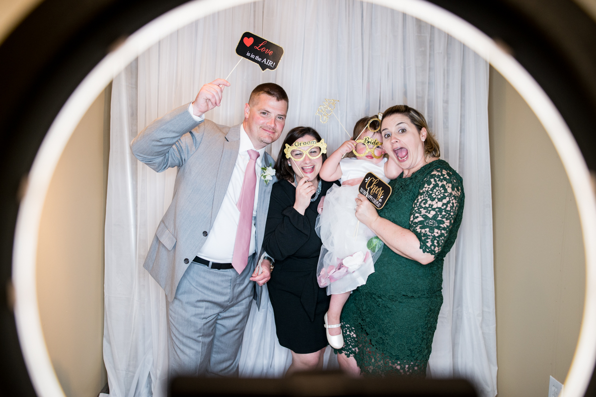 Elegant Summer Wedding in Smithfield, Virginia | Wedding reception photobooth