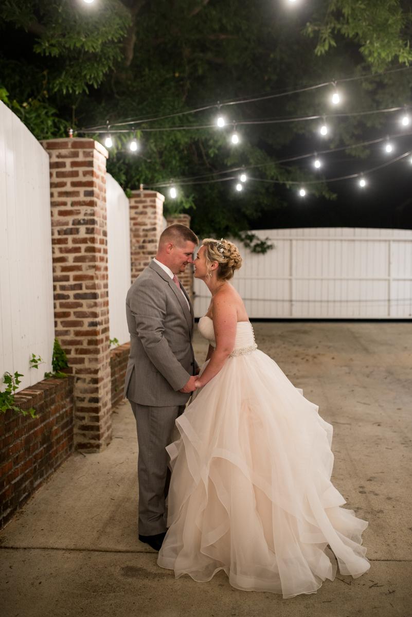 Elegant Summer Wedding in Smithfield, Virginia | Bride and groom nighttime portraits