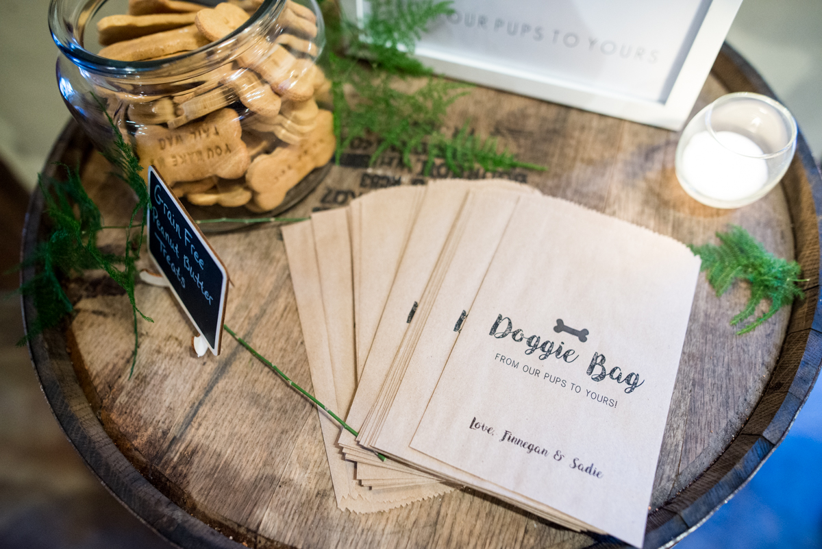 Elegant Summer Wedding in Smithfield, Virginia | Dog treat wedding reception favors