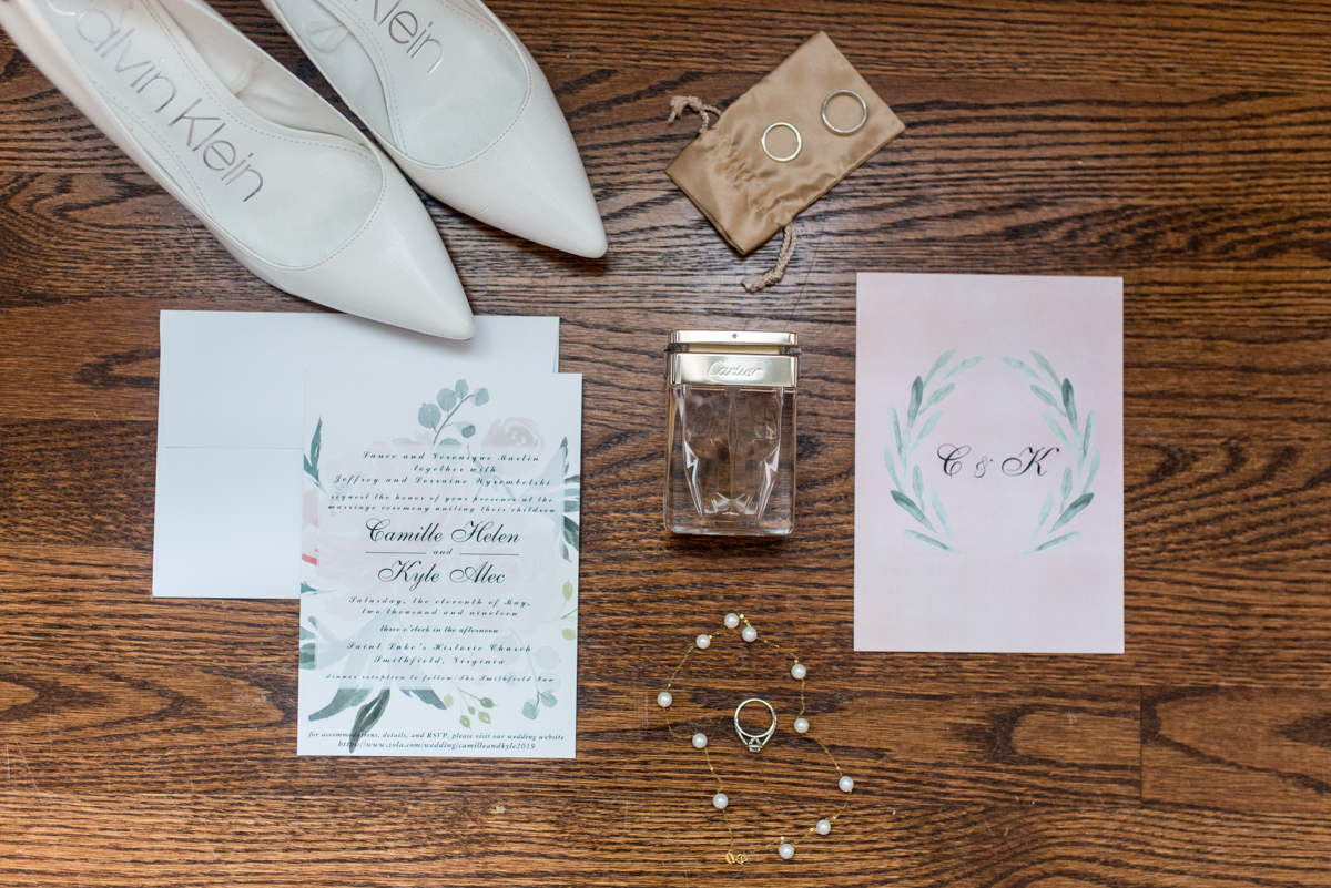 Intimate Summer Micro Wedding | Elegant Blush Wedding Invitations