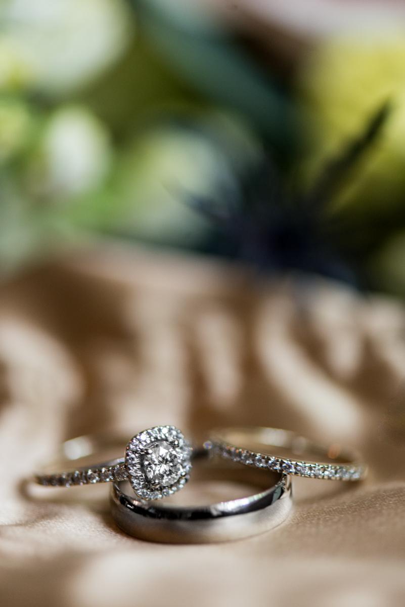 Intimate Summer Micro Wedding | Elegant Ring Shot