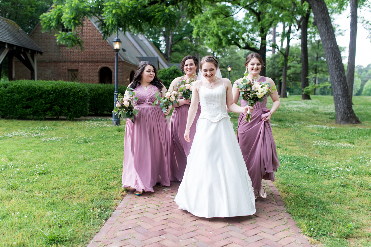 Intimate Summer Micro Wedding | Dusty mauve bridal party