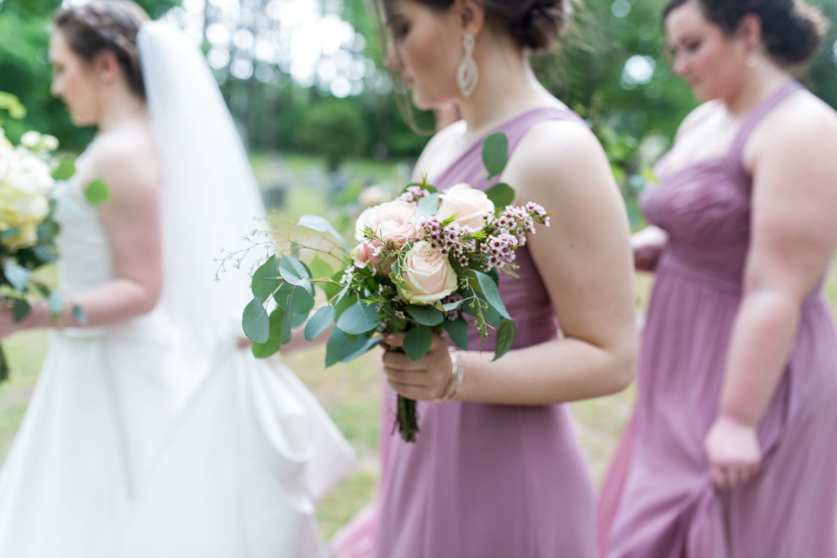 Intimate Summer Micro Wedding | Rose and eucalyptus bouquet