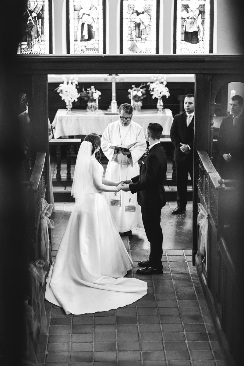 Intimate Summer Micro Wedding | Historic church wedding ceremony