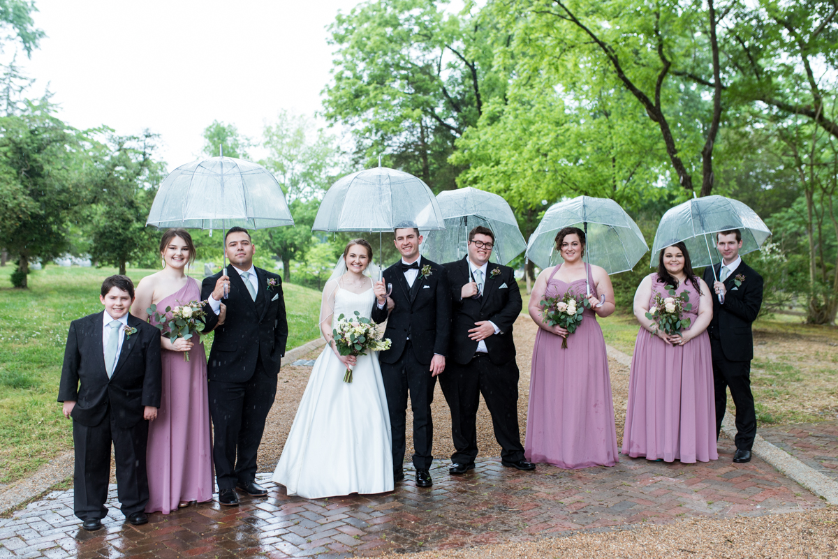 Intimate Summer Micro Wedding | Dusty mauve bridesmaid dresses