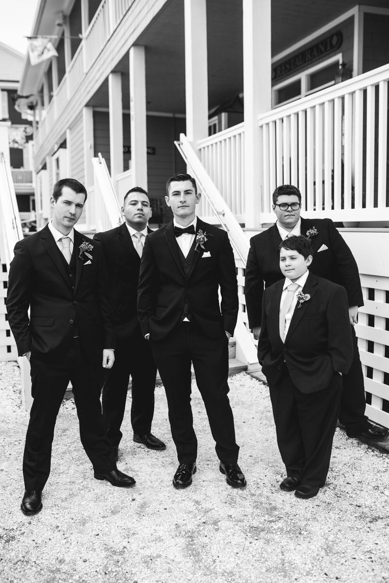 Intimate Summer Micro Wedding | Classy groomsmen portraits