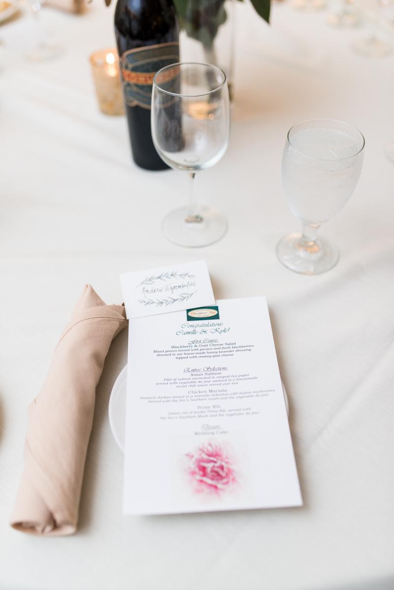 Intimate Summer Micro Wedding | Reception menu cards