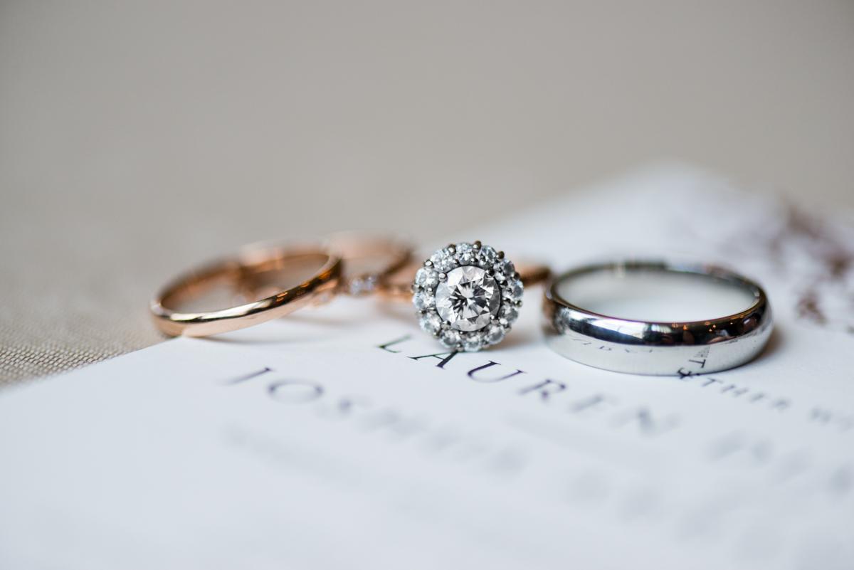 Jewish Summer Wedding in Williamsburg | Rose gold wedding rings
