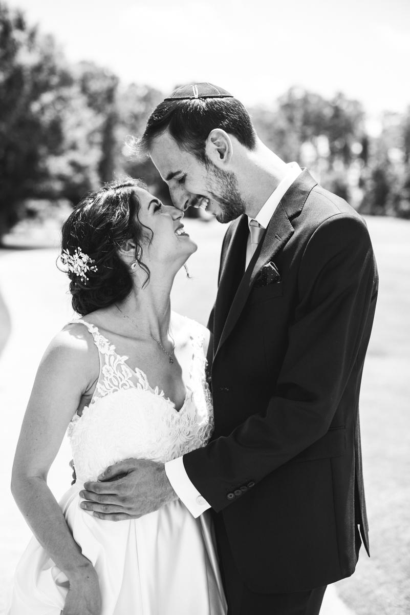 Jewish Summer Wedding in Williamsburg | Bride and groom first look