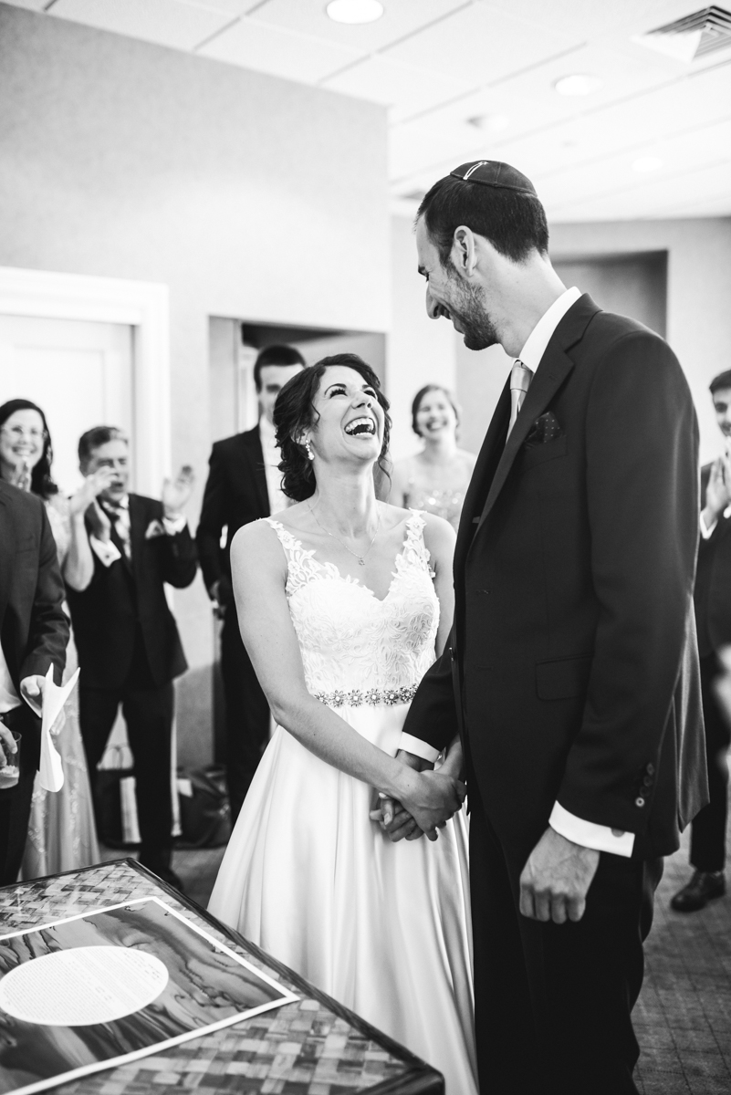 Jewish Summer Wedding in Williamsburg | Ketubah signing