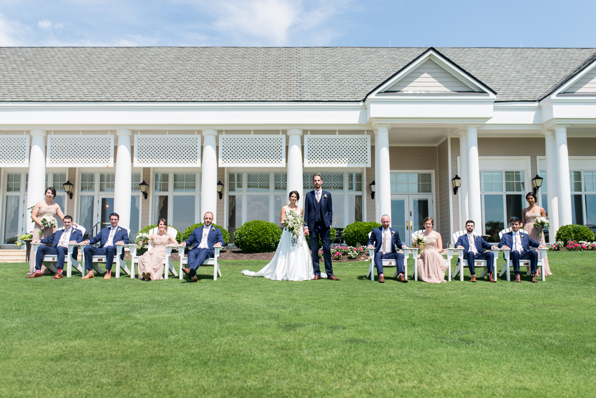 Jewish Summer Wedding in Williamsburg | Outdoor GQ style bridal party pictures