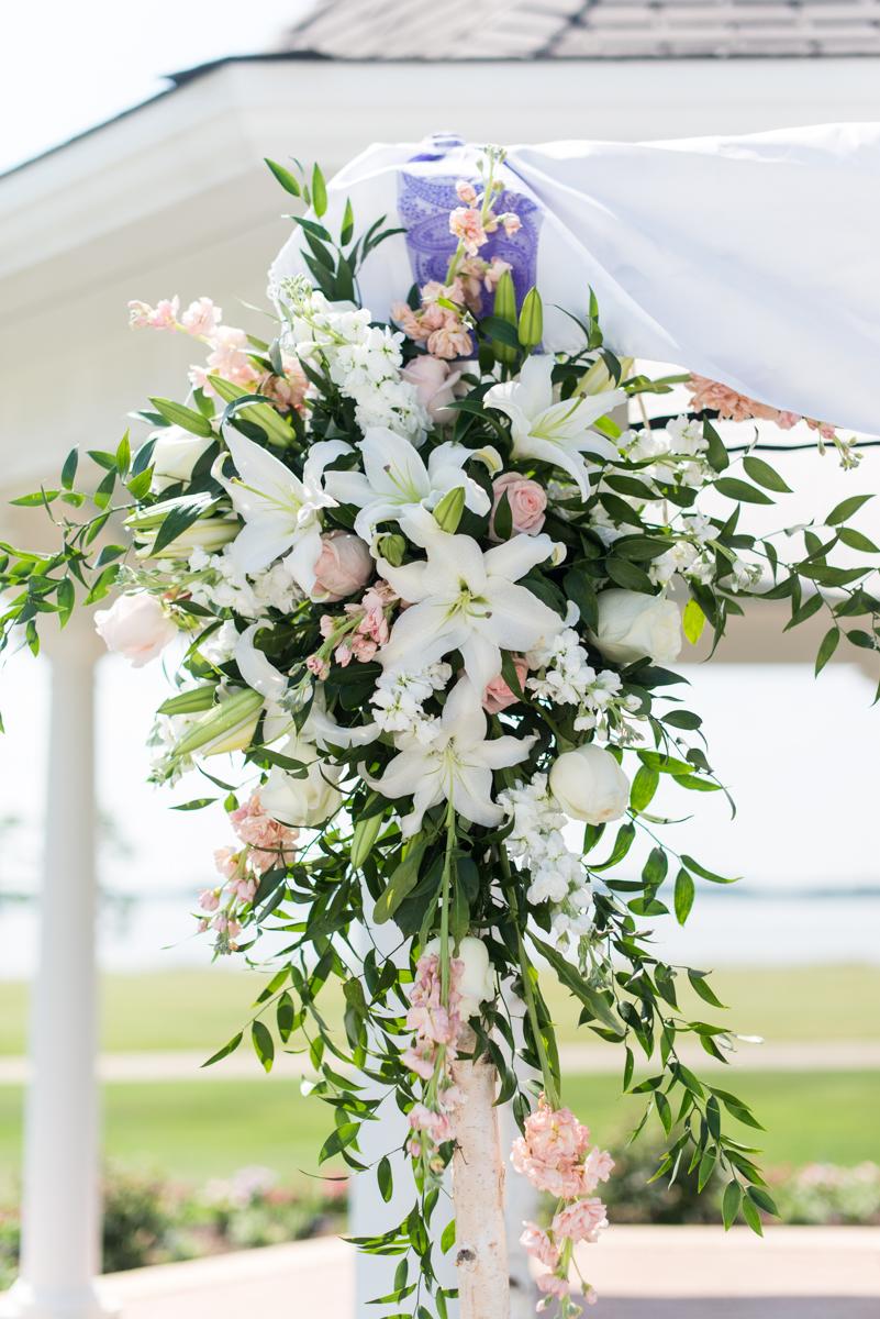 Jewish Summer Wedding in Williamsburg | Floral wedding chuppah