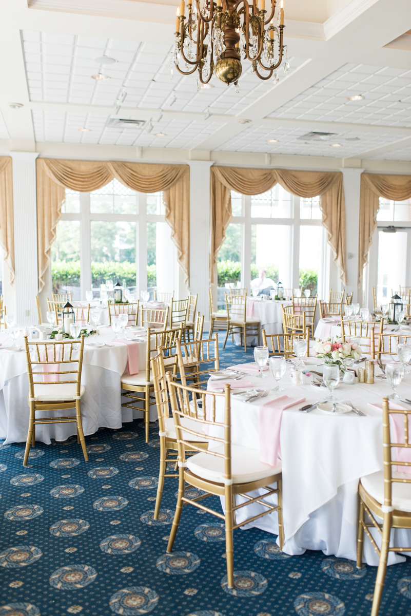Jewish Summer Wedding in Williamsburg | Blush and gold wedding reception