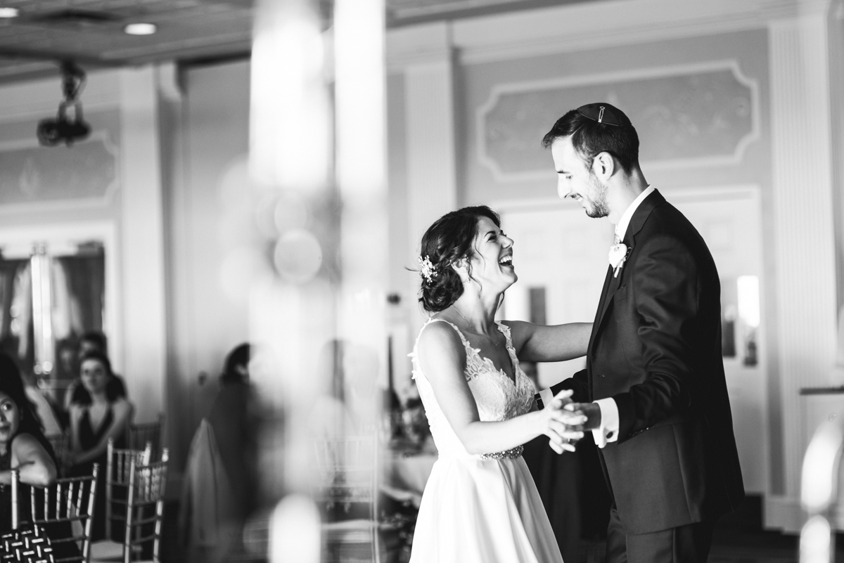Jewish Summer Wedding in Williamsburg | Bride and groom first dance