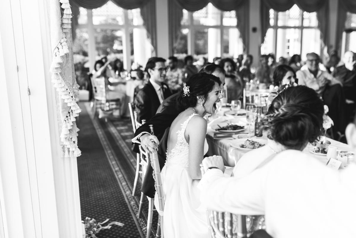 Jewish Summer Wedding in Williamsburg | Wedding reception guest reactions