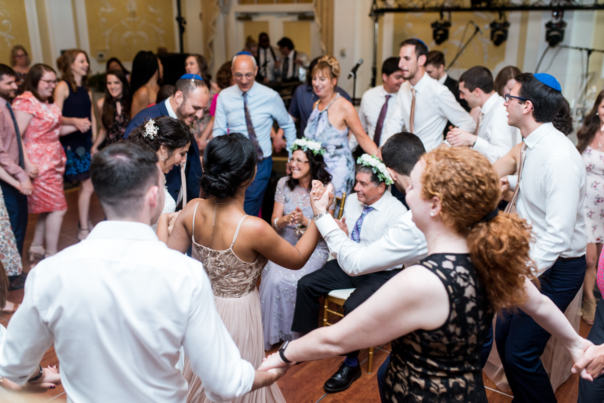 Jewish Summer Wedding in Williamsburg | Mezinke Tanz Tradition