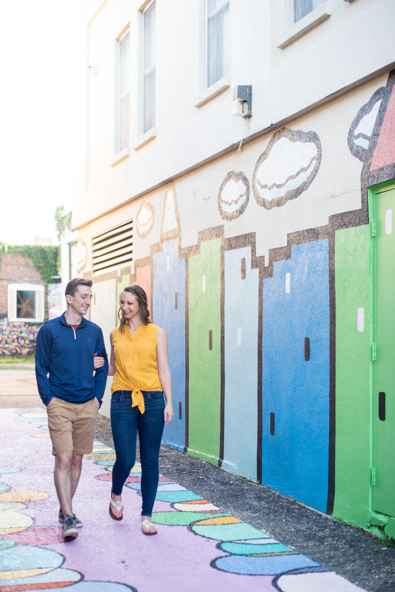 Trendy Downtown Engagement Pictures in Norfolk, Virginia