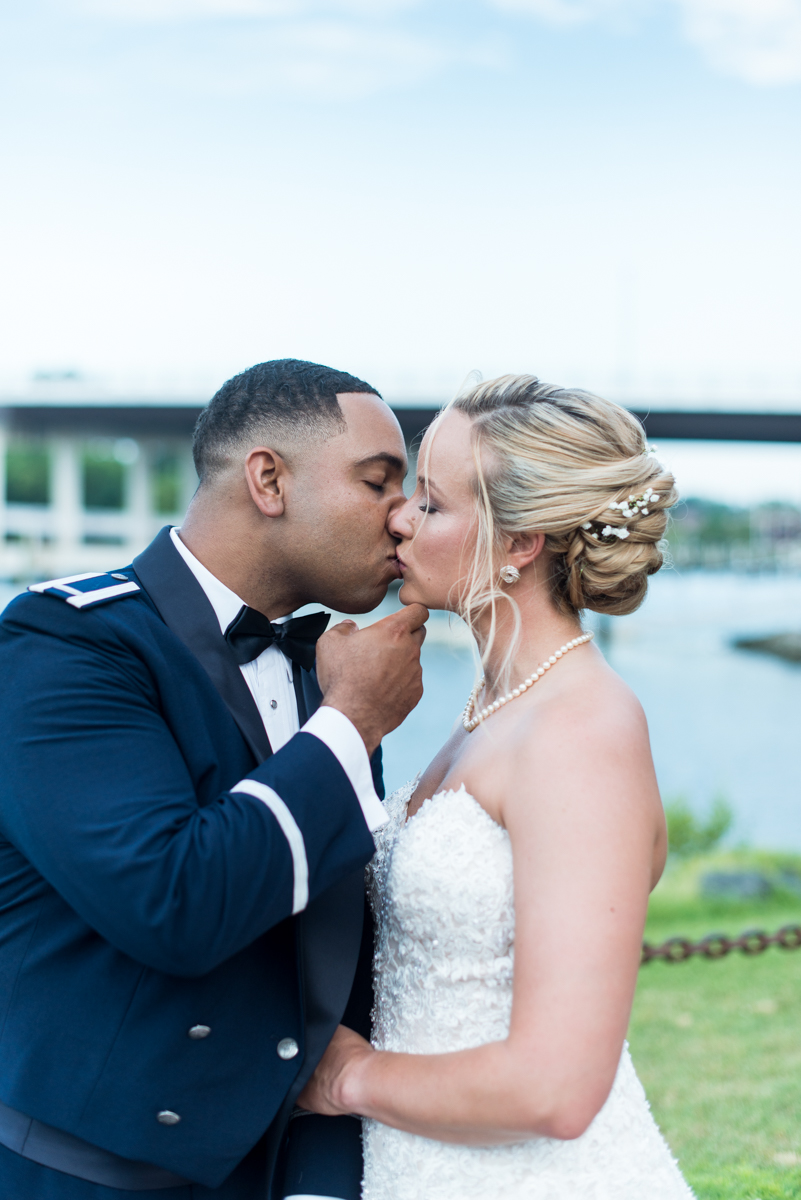 Intimate Downtown Military Elopement | Bride and Groom Pictures