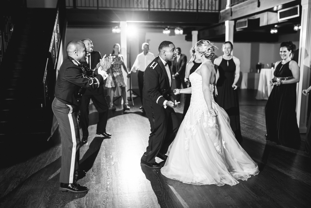 Intimate Downtown Military Elopement | Wedding Reception Dancing