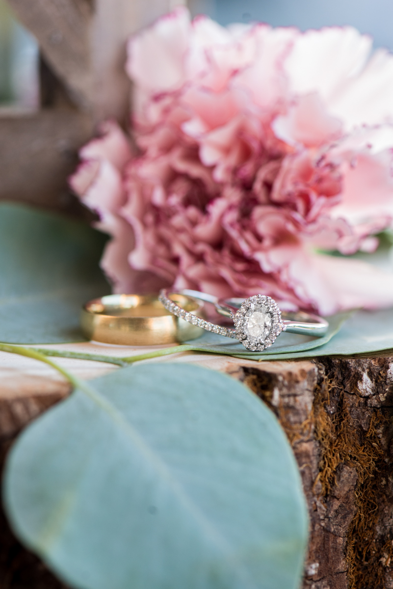 Bright Fall DIY Wedding | Ring Flower Shot