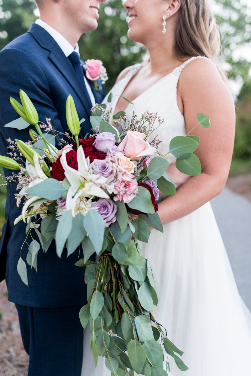 Bright Fall DIY Wedding | Eucalyptus and rose wedding bouquet
