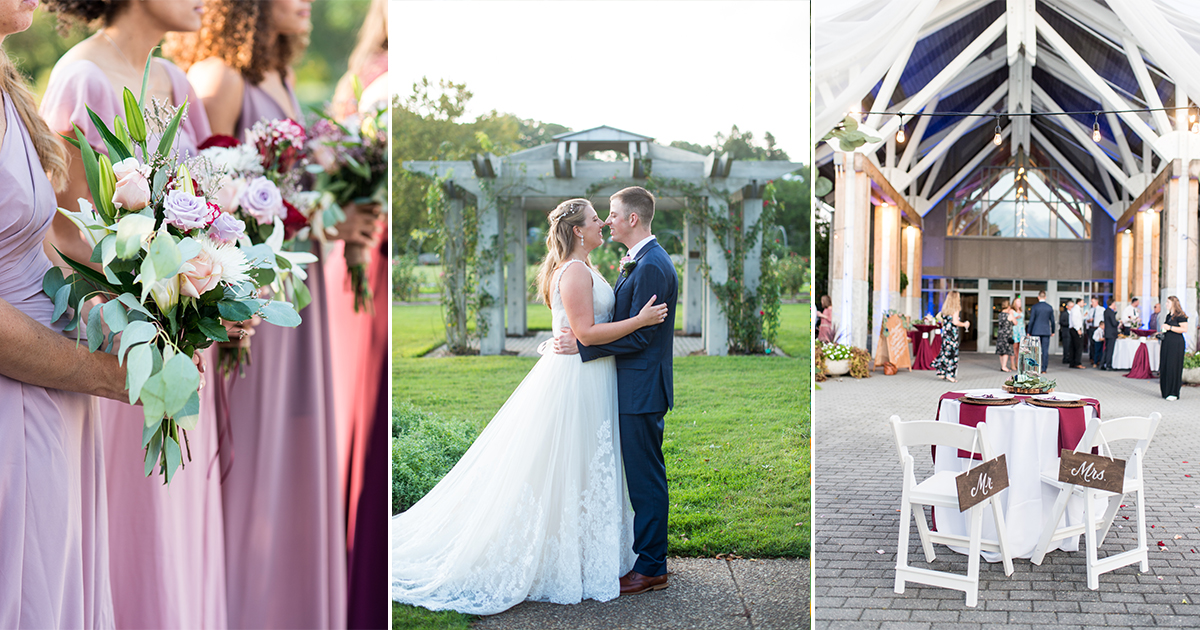 Fall Wedding at the Botanical Gardens