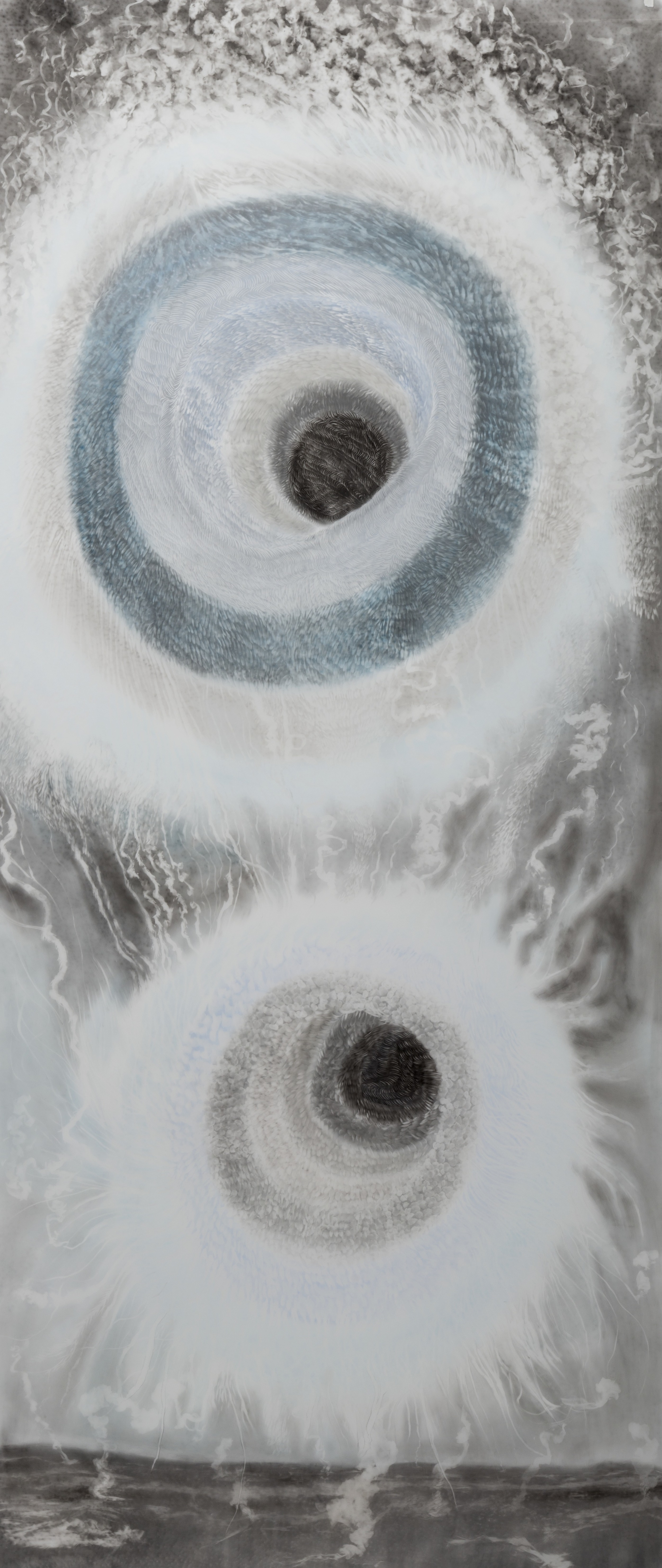 Observed and Recorded Permutation of the Holy Spirit X ( 33.75 inches x 83.5 inches-pastel and powdered graphite erasing on dura-lar)