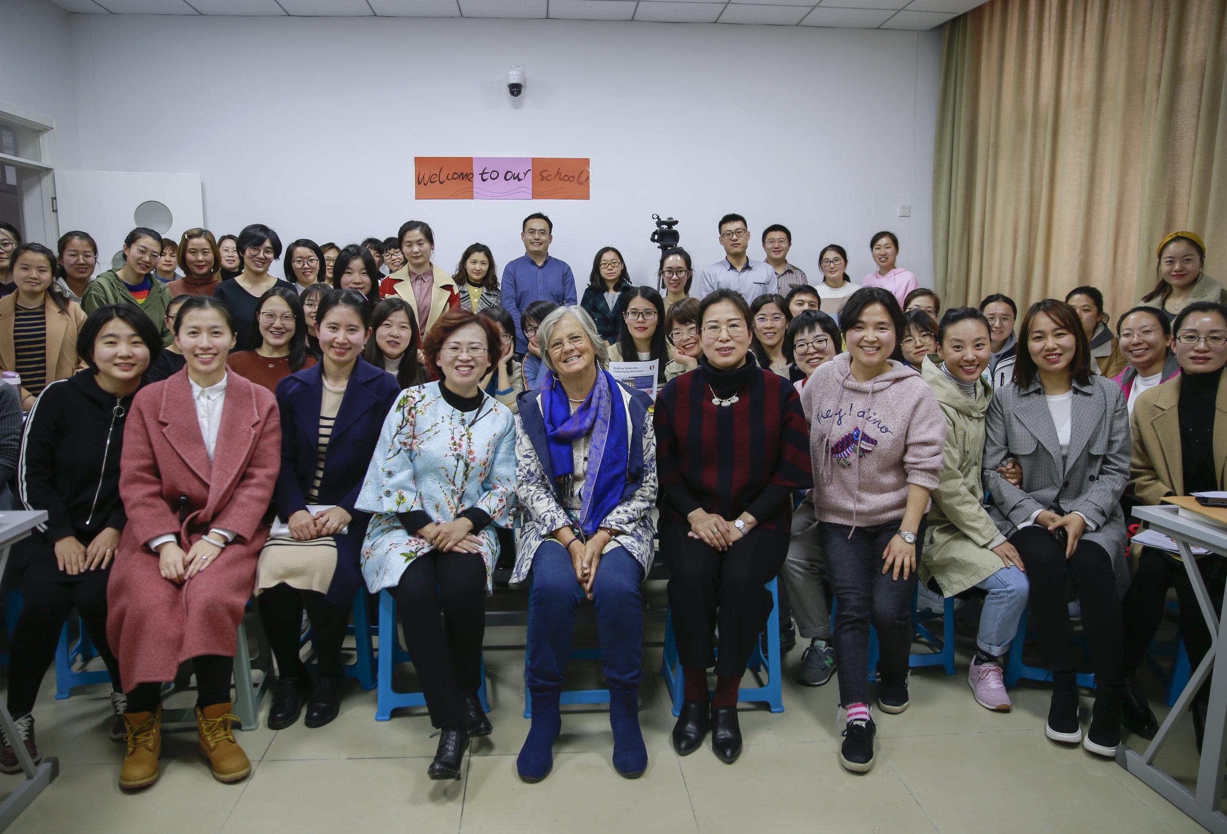 Workshop for 60 grade teachers (classes 4,5,6) in Beijing, March 2019