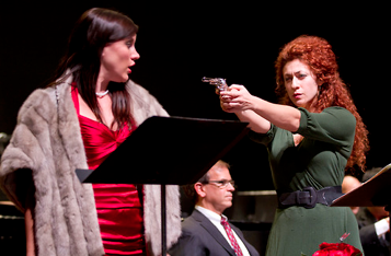 Shantelle Przybylo and Julia Mintzer in  Part of the Act . Photo by Scott Suchman/WNO.