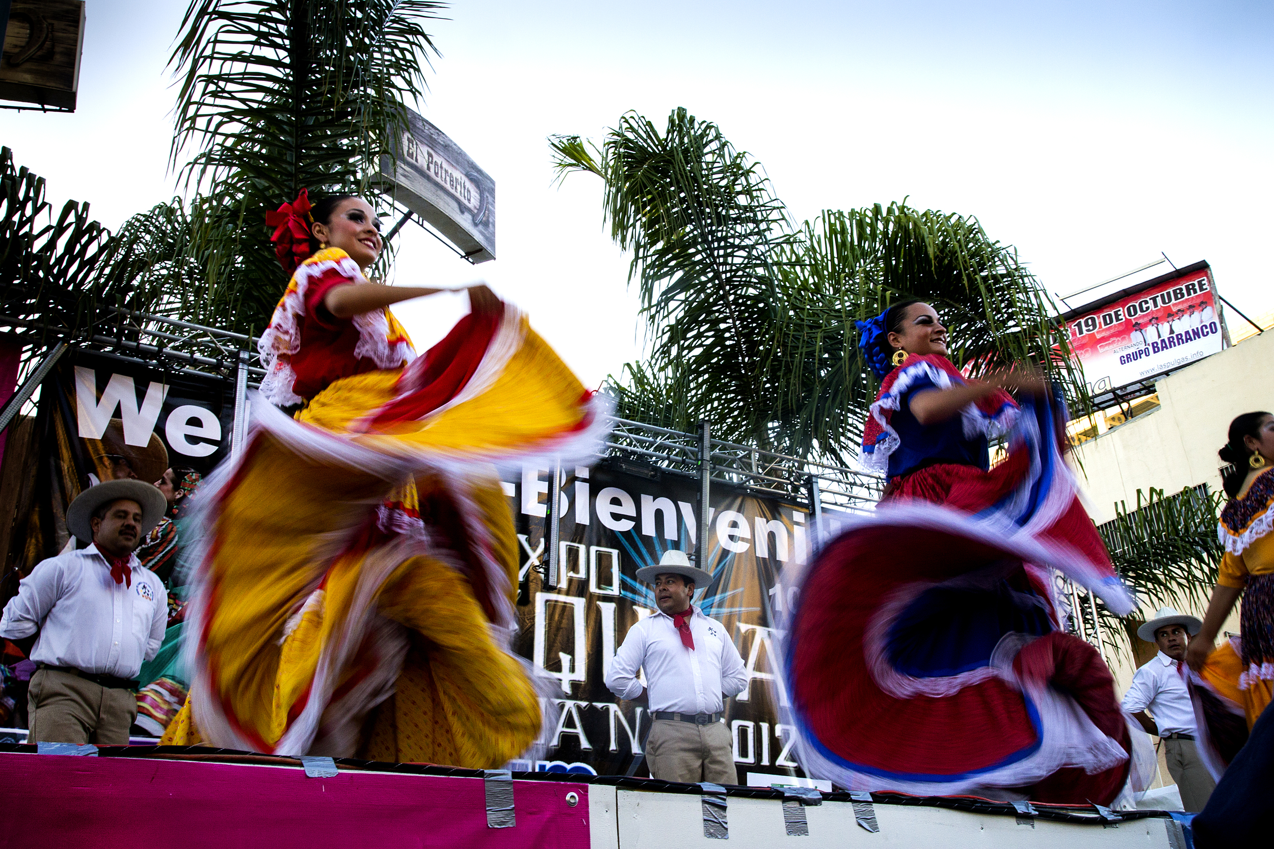 Folklorico dancers at the tequila festival