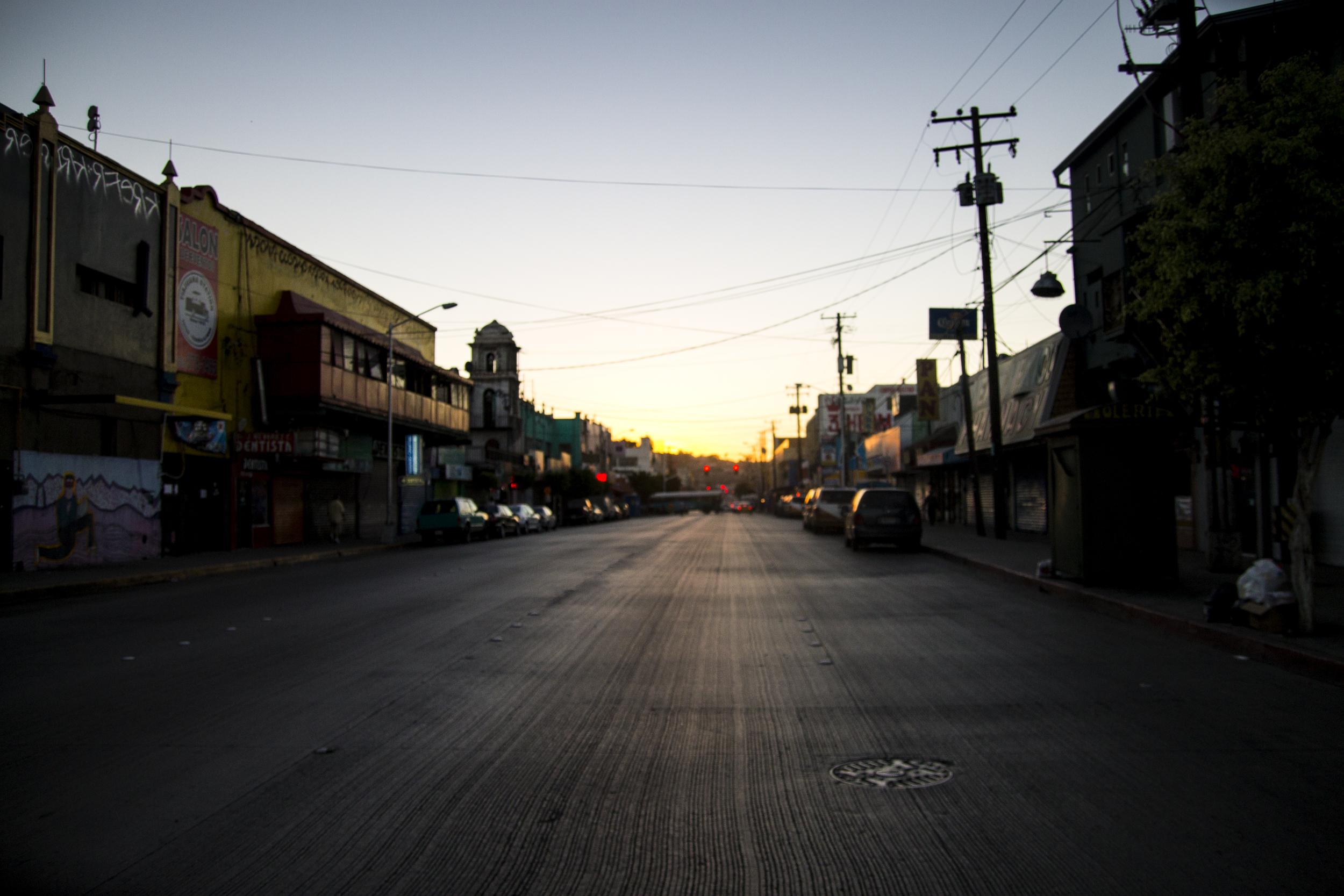 A street in Tijuana