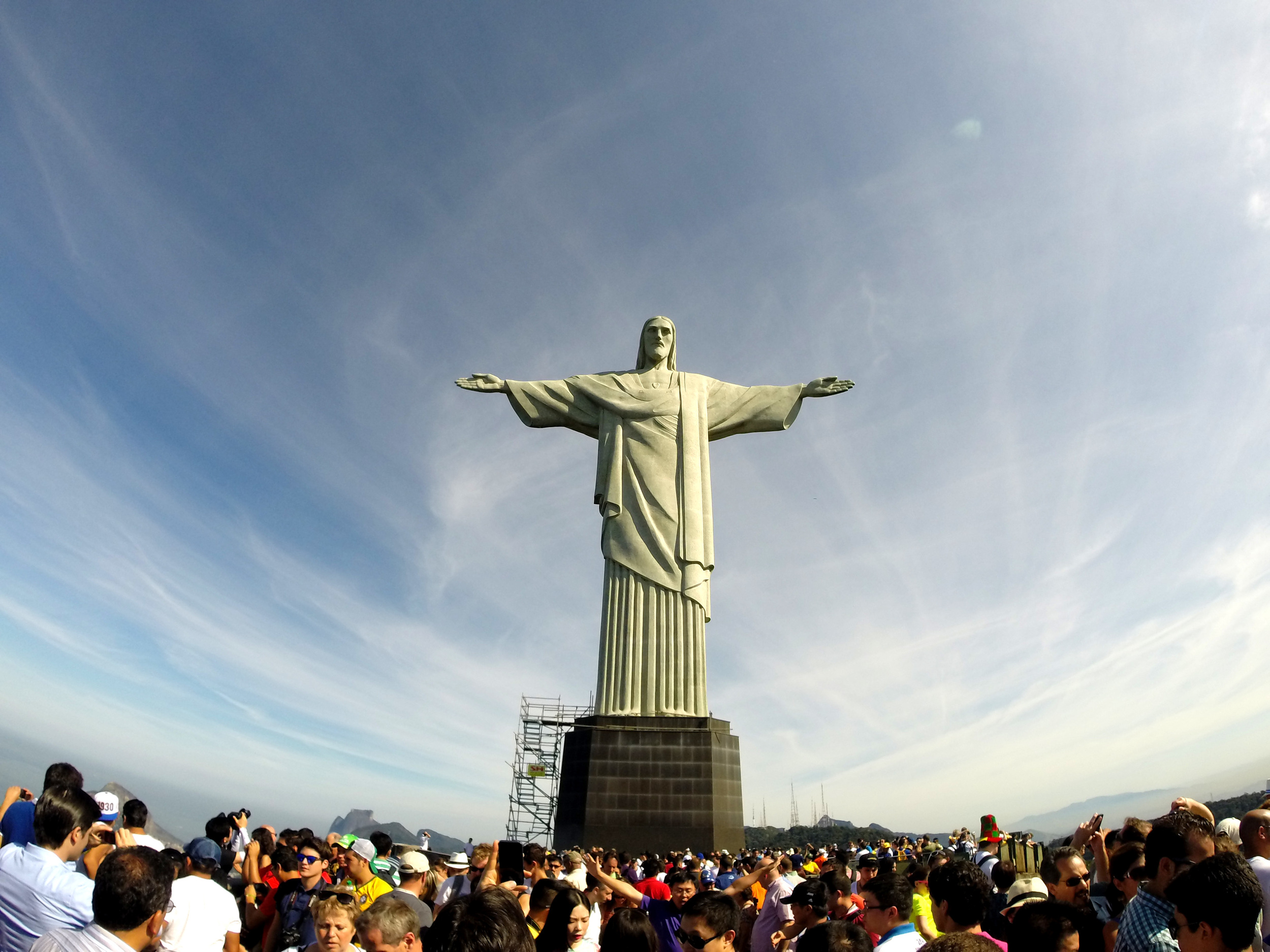 So many crowds at Christ the Redeemer in Rio de Janeiro, Brazil.