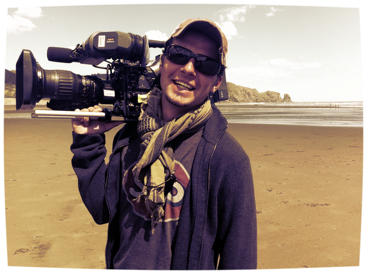 Filming on location in New Zealand. (2011)
