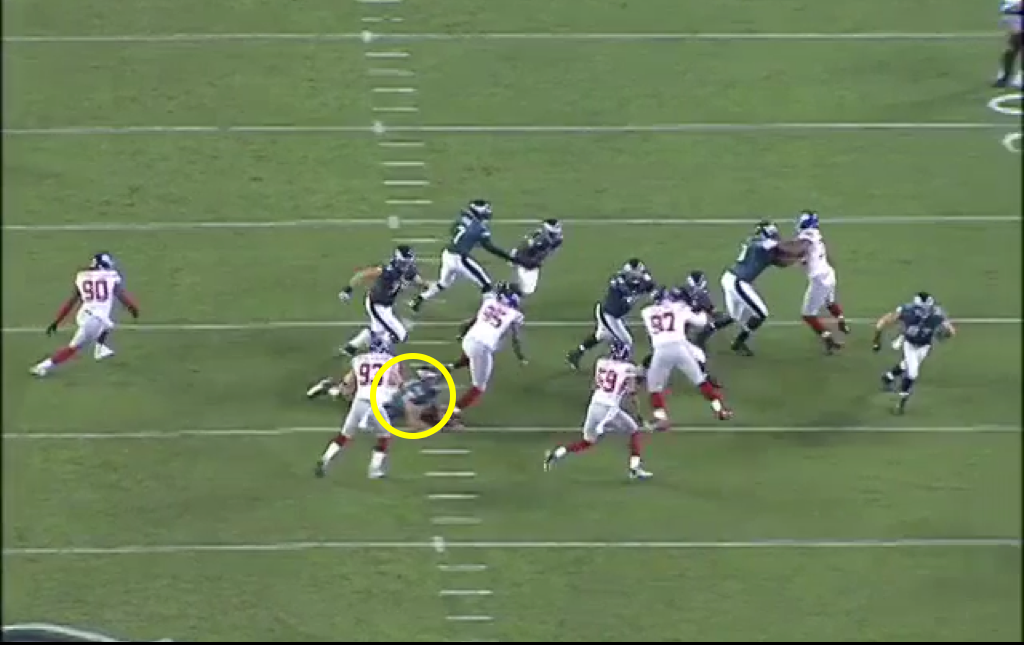 Watkins' failed cut block.