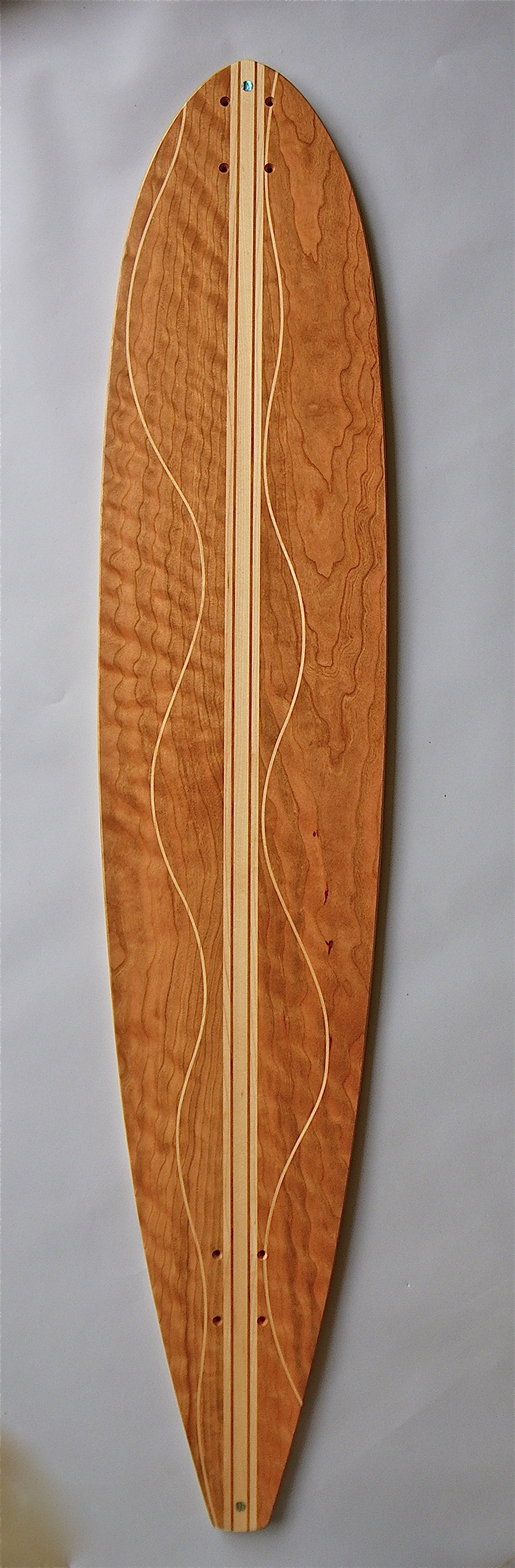 "The Big Kahuna!! 10"" Wide and a full 54"" long.  Curly Cherry and Maple Stringer with Maple Flowlines"