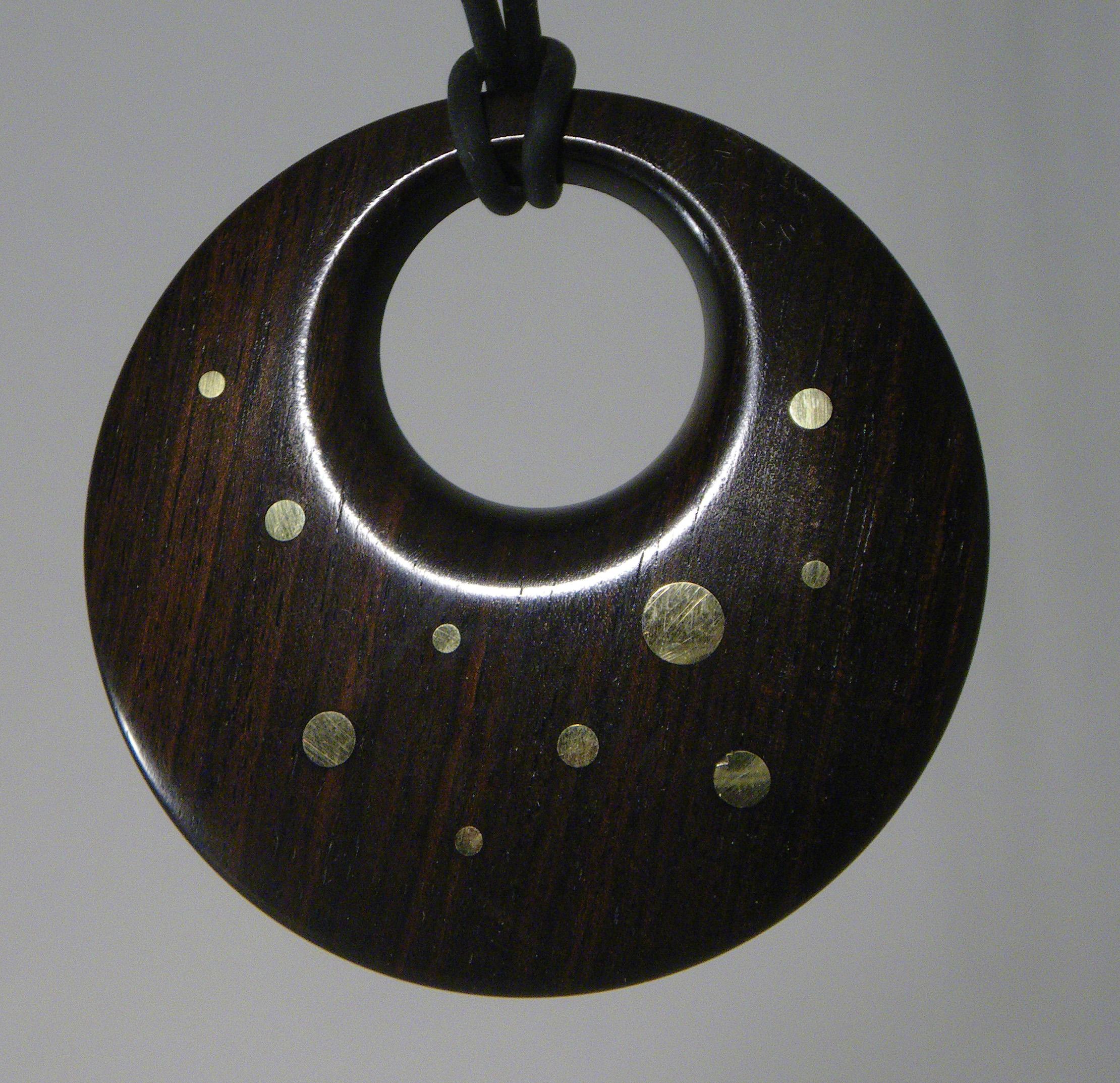 Ebony with Brass inlay