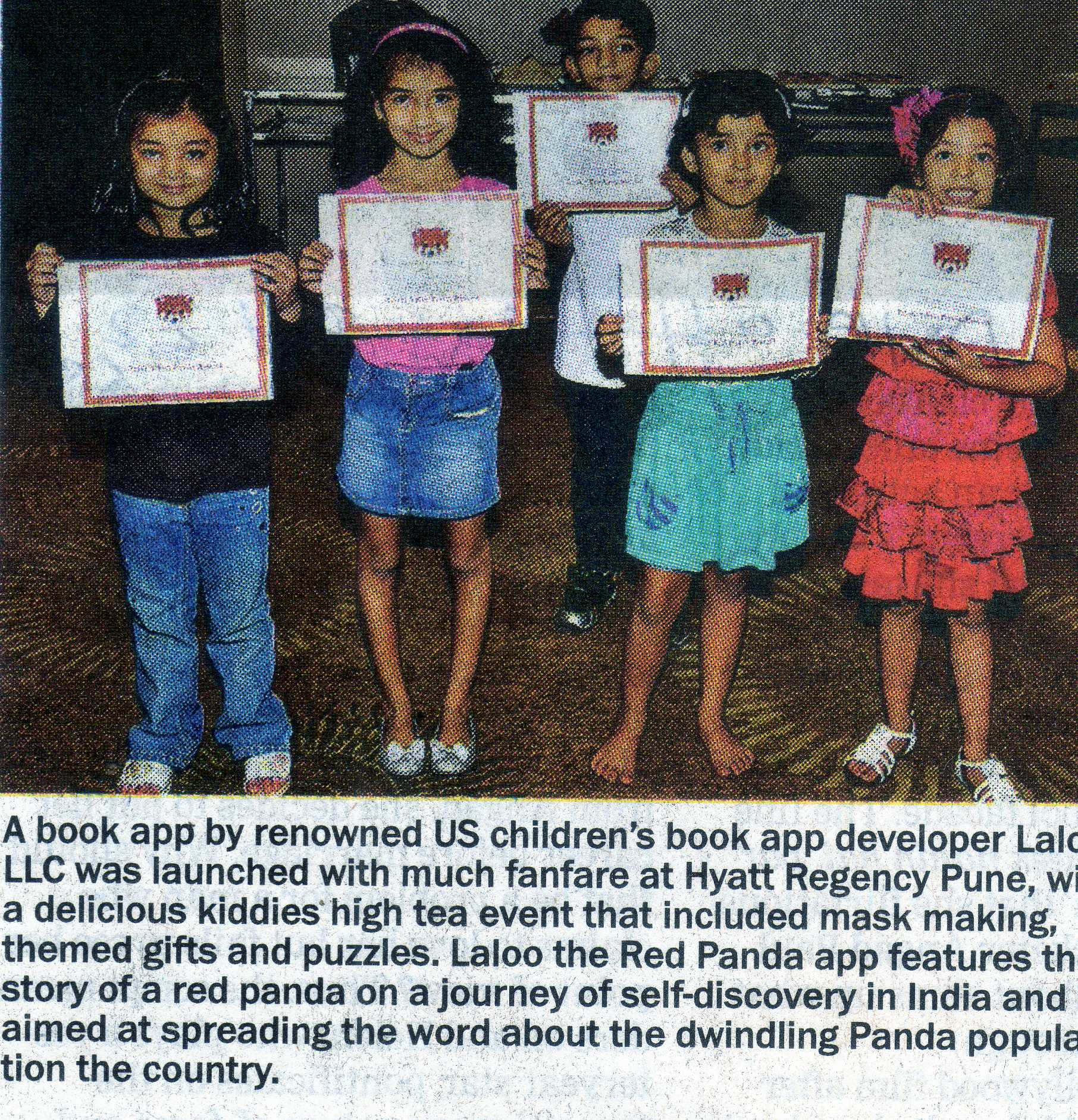 DNA newspaper in Mumbai covered Laloo's launch party!