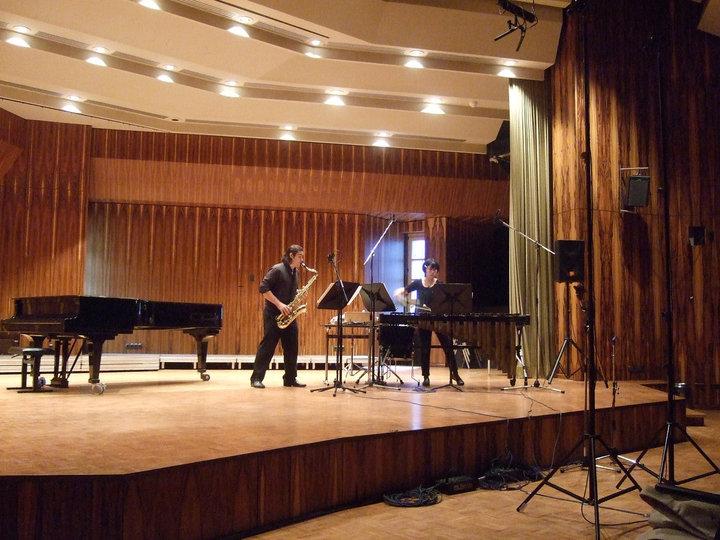 Performing at Darmstadt, Germany