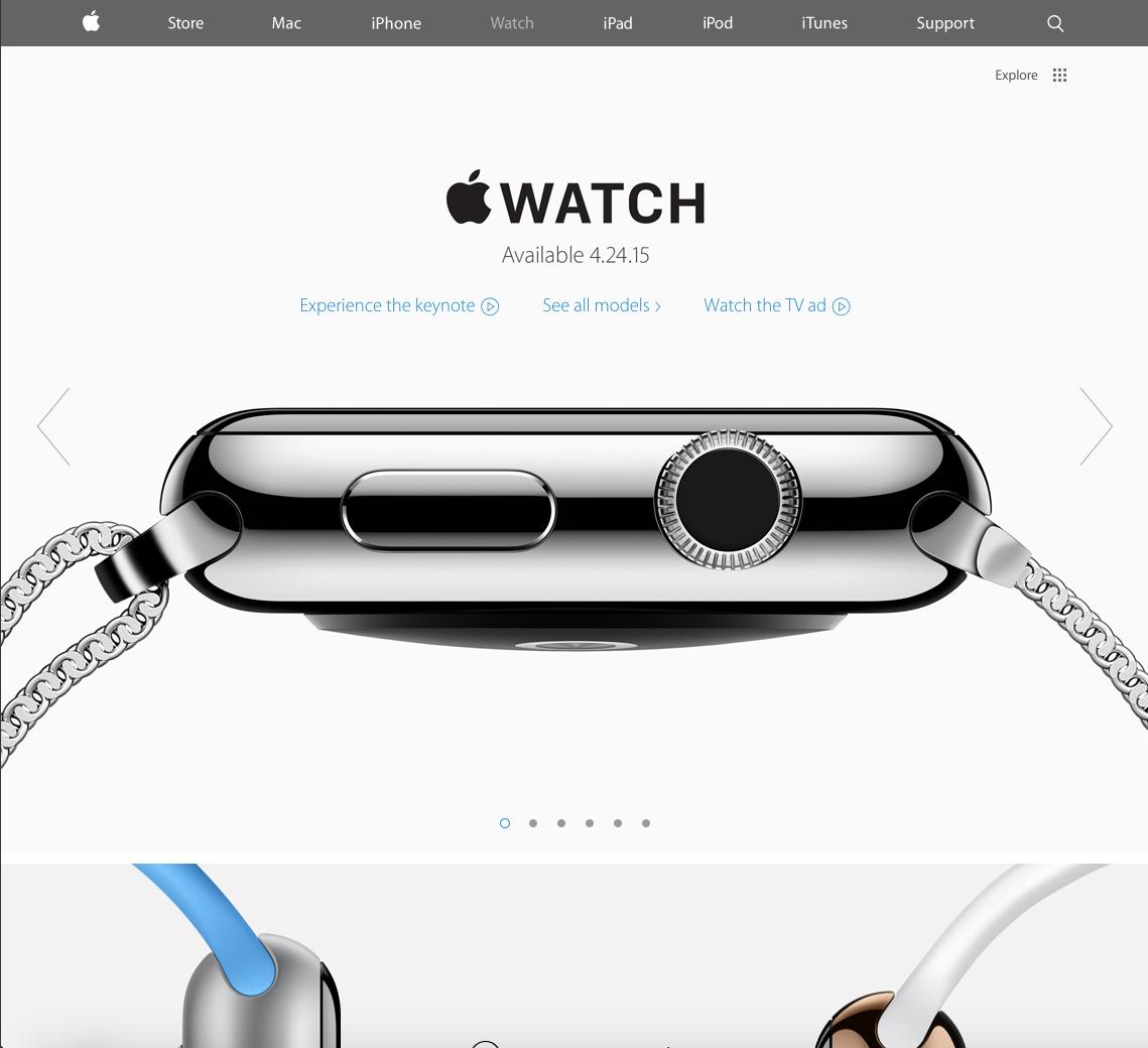 Apple Watch Landing Page