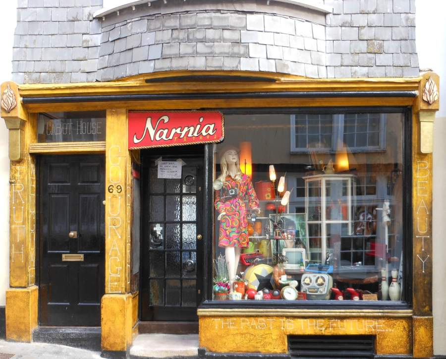 ' Narnia' in Totnes, Devon is a treasure trove of items from a bygone era.... I love it!