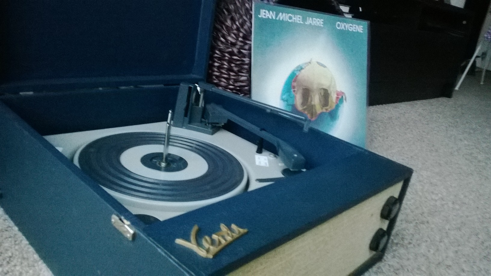 My lovely Verdi record player and the amazing Jean Michel Jarre 'Oxygene' album