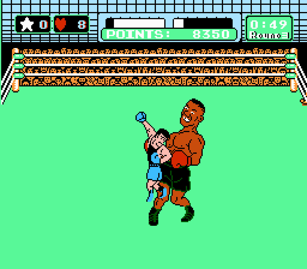 Punchout is the spiritual father of Wii Sports boxing, a game many children have played.