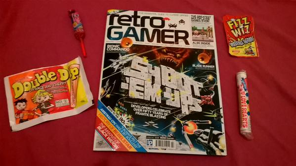 Retro Gamer and retro sweets, a winning combination.