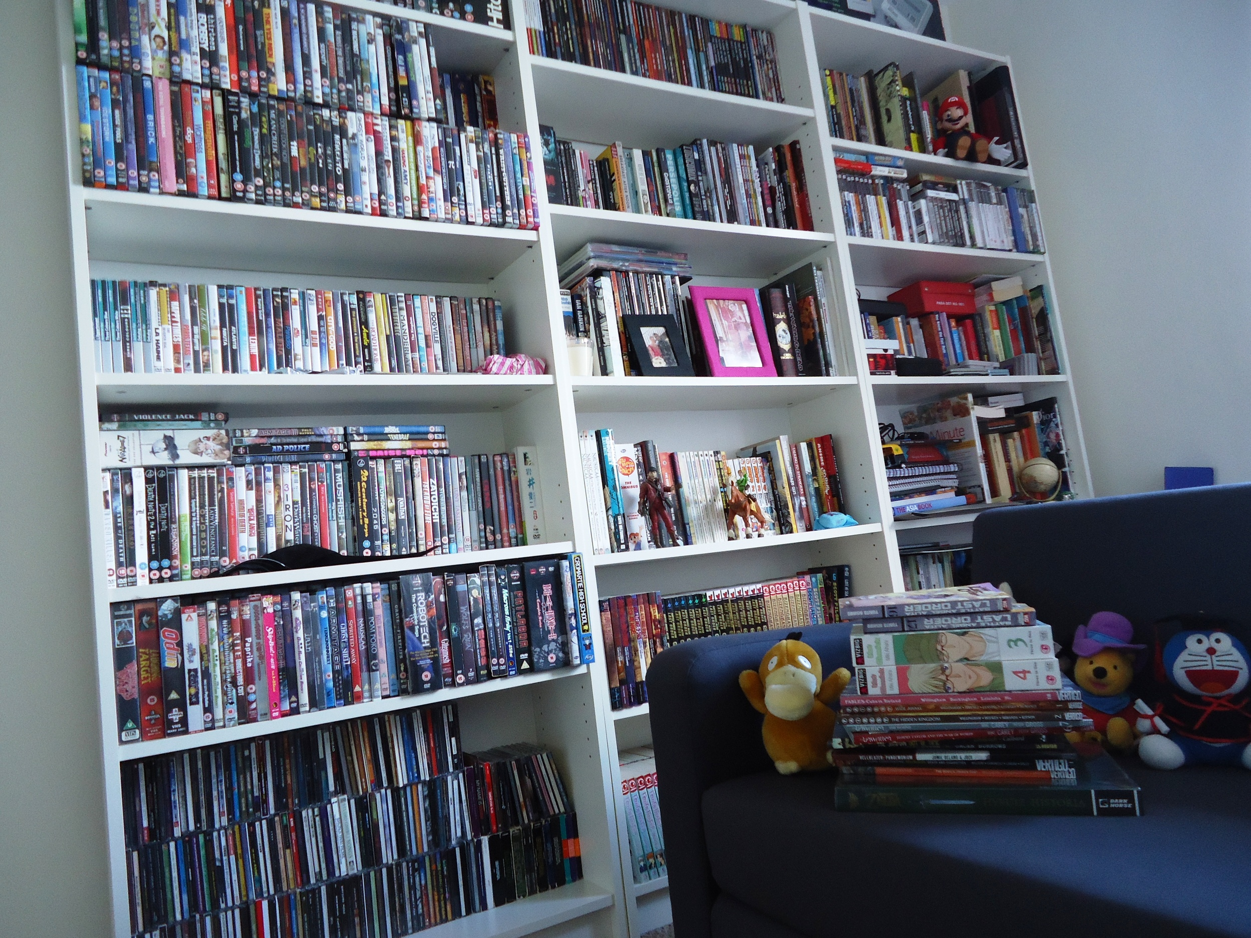 My second mancave was in a much smaller room which I was given as a favour from my wife. It was full of DVD's, CD's, graphic novels, models and plushies. It was great but felt a bit crammed!