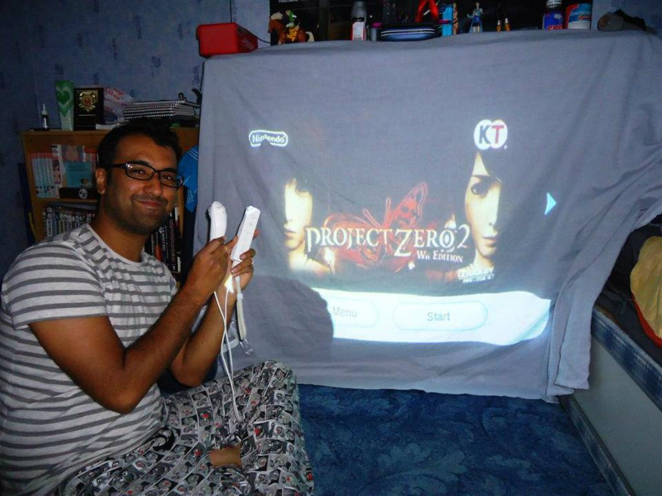 I even had a projector plugged in to play games. This was especially good for scary games like Project Zero 2 on the Wii.