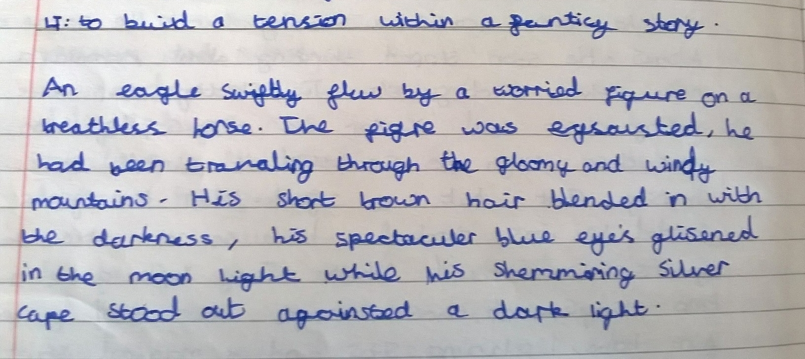 This is an example of the introduction written by one of my pupils.