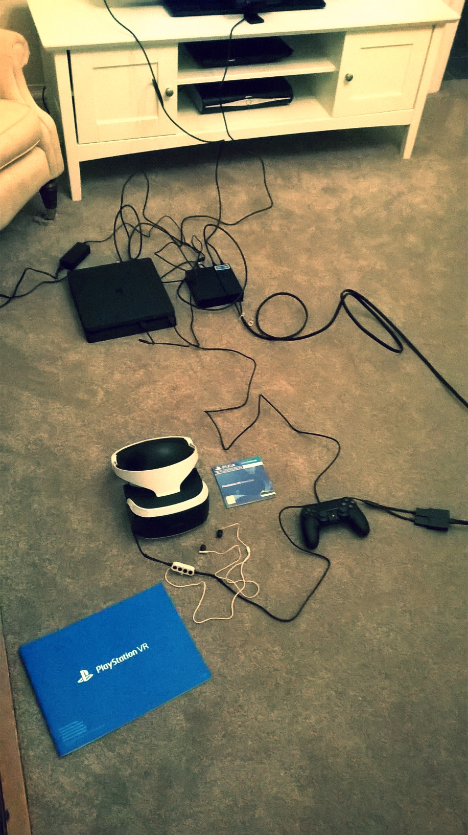 The PSVR does require a lot of wires.