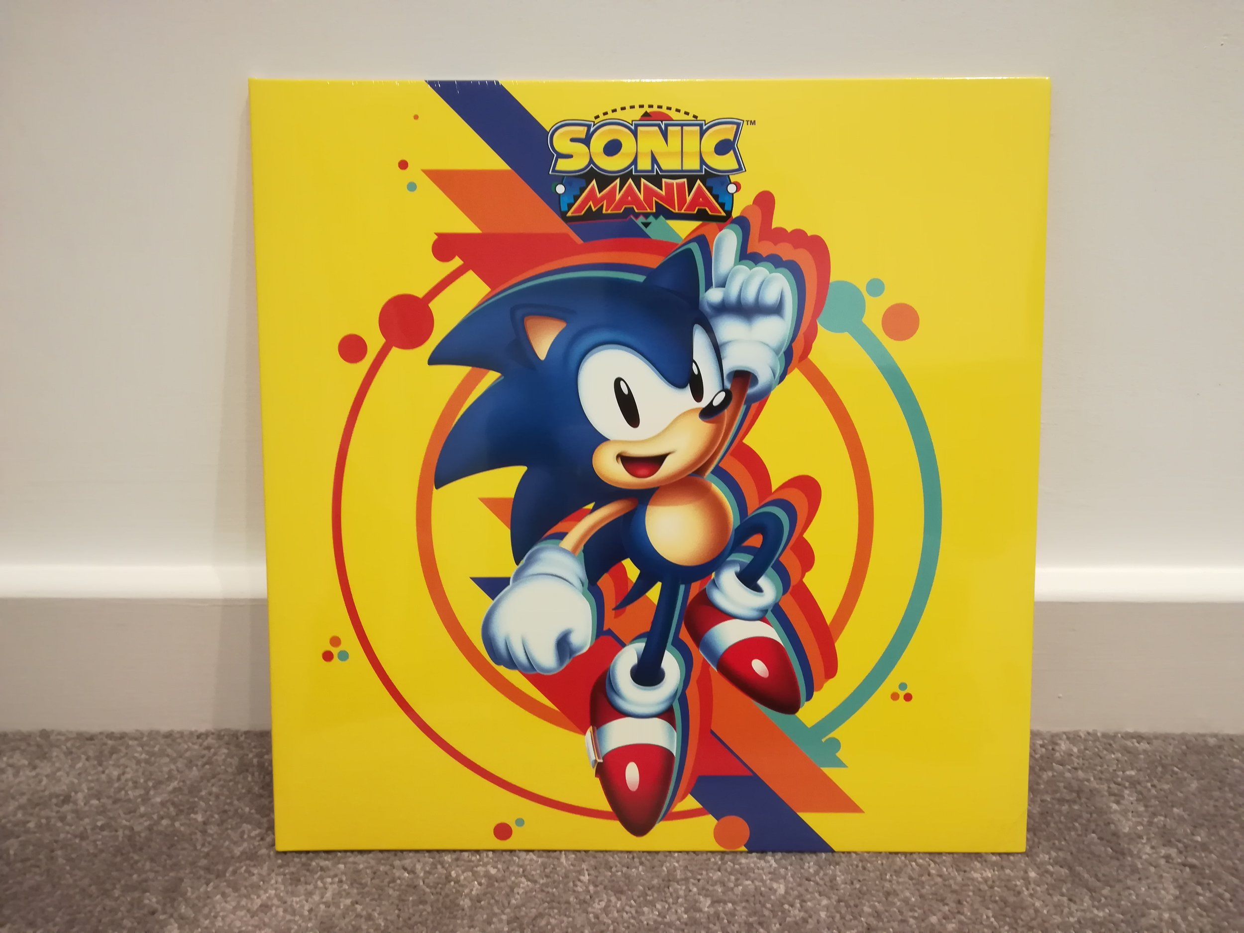 Classic Sonic takes front-centre on the cover of this soundtrack