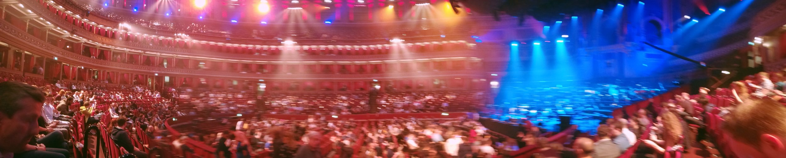 My rather blurry panorama of the Royal Albert Hall.